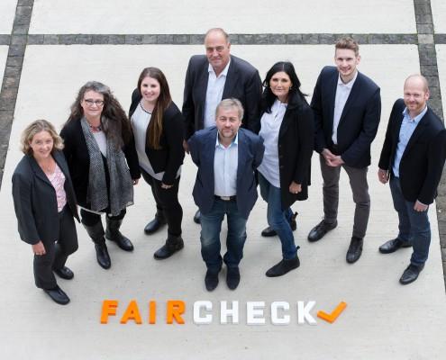 Das Backoffice-Team von faircheck