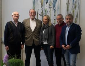 faircheck-Veteranen zu Gast im Headquarter in Graz Stattegg (v.l.n.r.): Manfred Wonisch, Peter Mayrhofer, Sabine Taucher König und Hermann Kogler mit CEO Peter Winkler.